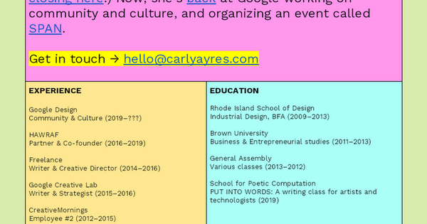 UPDATED [Carly Ayres] Website_as_a_resume DRAFT