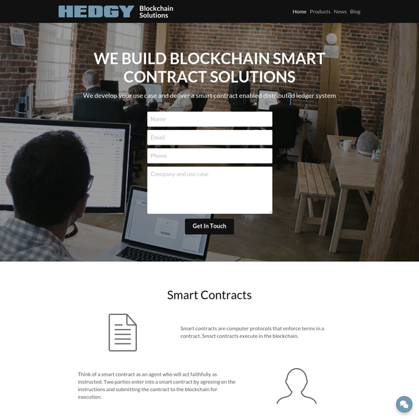 We build enterprise blockchain solutions. We work to develop your use case and deliver smart contract enabled distributed ledger systems. We work with Ethereum, Hyperledger, Ripple, and other blockchain protocols.