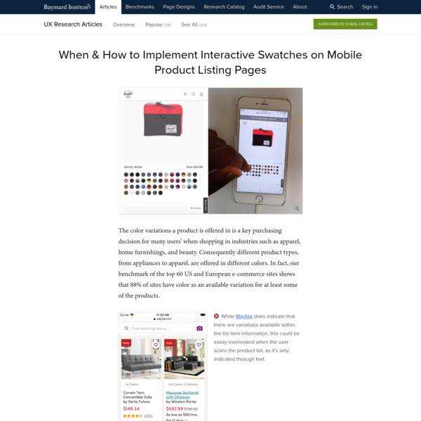 When & How to Implement Interactive Swatches on Mobile Product Listing Pages