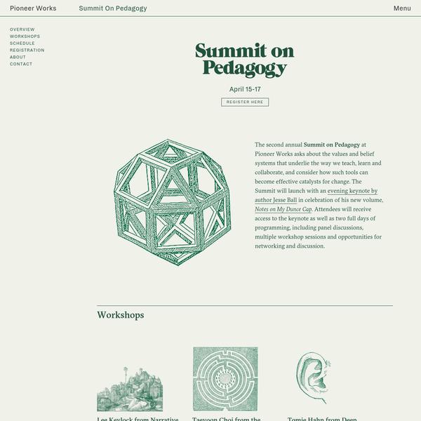 Summit on Pedagogy | Pioneer Works