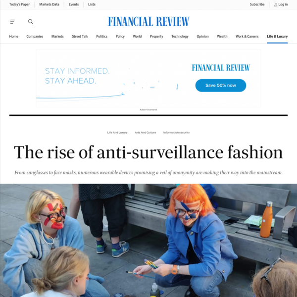 The rise of anti-surveillance fashion