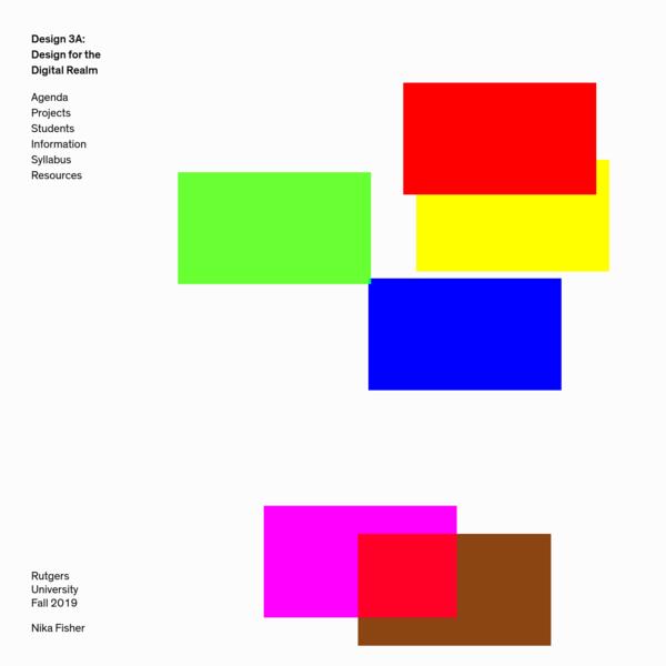 Design 3A - Design for the Digital Realm