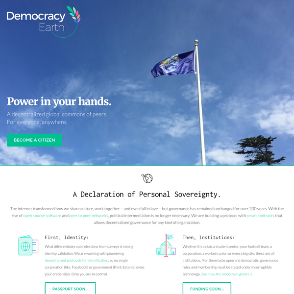 What differentiates valid elections from surveys is strong identity validation. We are working with pioneering decentralized protocols for identification, so no single corporation (like Facebook) or government (think Estonia) owns your credentials. Only you are in control. Whether it's a club, a student center, your football team, a corporation, a workers union or even a big city: these are all institutions.