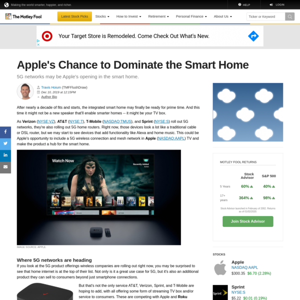 Apple's Chance to Dominate the Smart Home | The Motley Fool