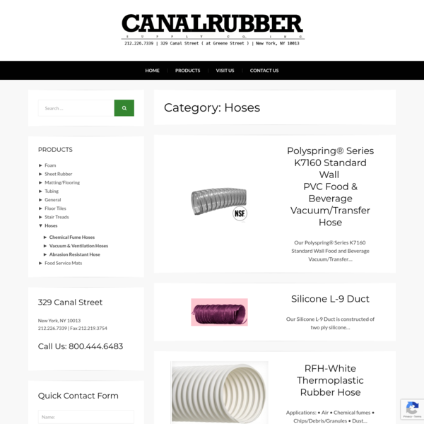 Hoses Archives - Canal Rubber
