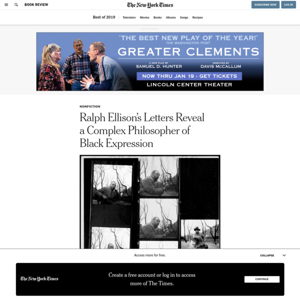 Ralph Ellison's Letters Reveal a Complex Philosopher of Black Expression