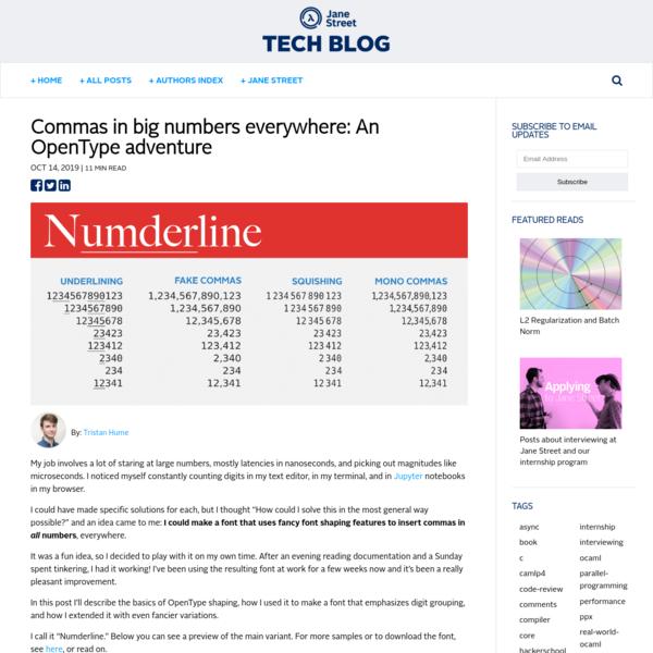 Commas in big numbers everywhere: An OpenType adventure