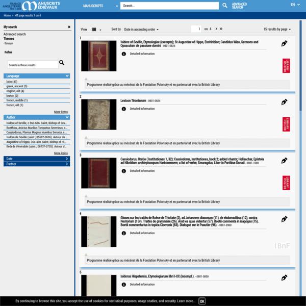 Votre recherche - : 47 résultats - Bibliothèque nationale de France