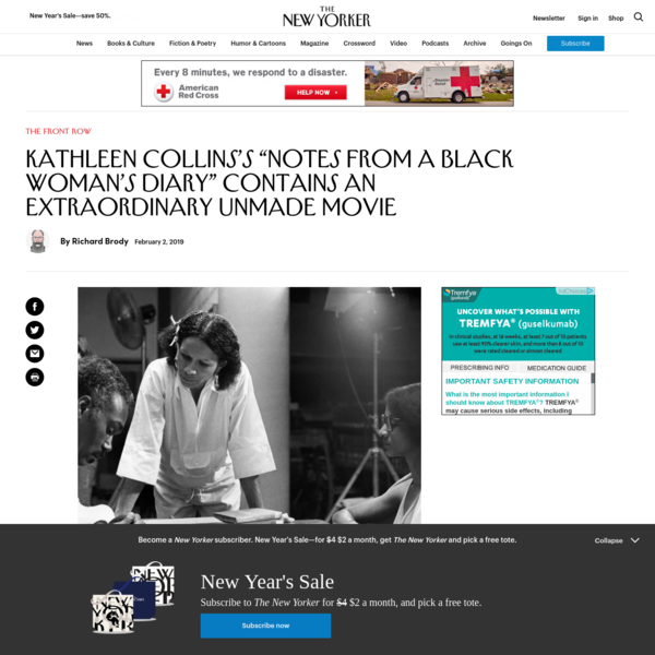 """Kathleen Collins's """"Notes from a Black Woman's Diary"""" Contains an Extraordinary Unmade Movie"""