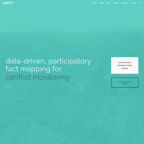 pattrn | data-driven, participatory fact mapping