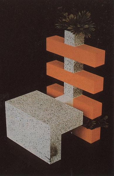 Alessandro Carlini - Stuhlmodell (1976)