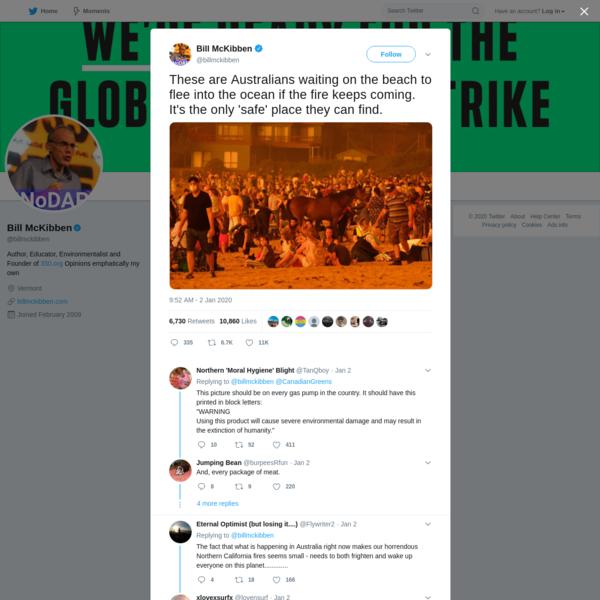 Bill McKibben on Twitter