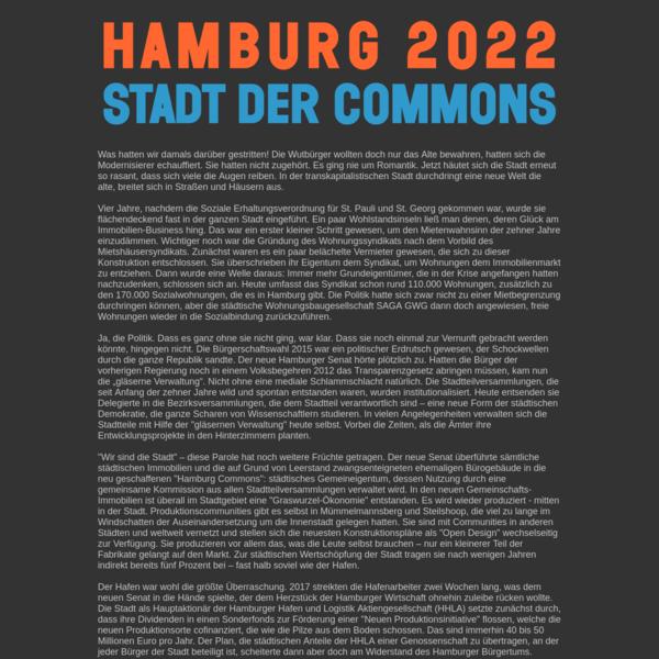 Hamburg 2022 - Stadt der Commons
