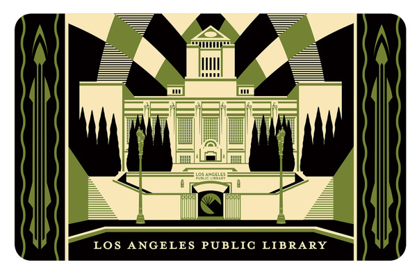 Los Angeles Public Library card, artwork by Shepard Fairey