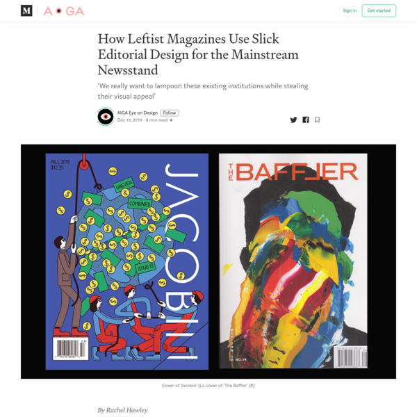 How Leftist Magazines Use Slick Editorial Design for the Mainstream Newsstand