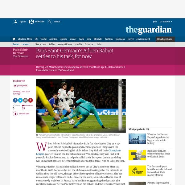 Paris Saint-Germain's Adrien Rabiot settles to his task, for now | Paul Doyle