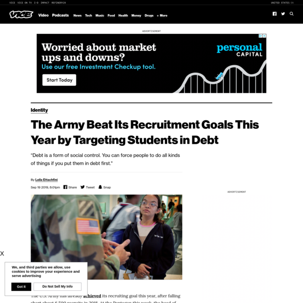 The Army Beat Its Recruitment Goals This Year by Targeting Students in Debt - VICE