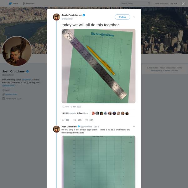 Josh Crutchmer on Twitter