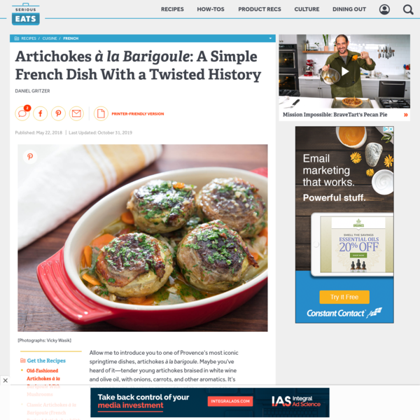 Artichokes à la Barigoule: A Simple French Dish With a Twisted History