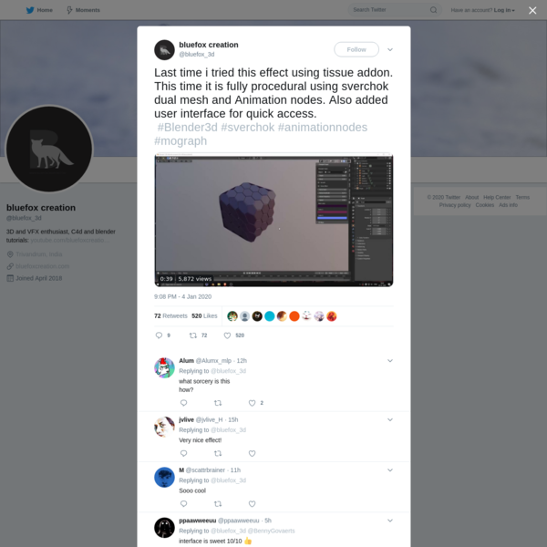 bluefox creation on Twitter
