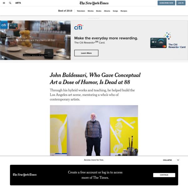 John Baldessari, Who Gave Conceptual Art a Dose of Humor, Is Dead at 88