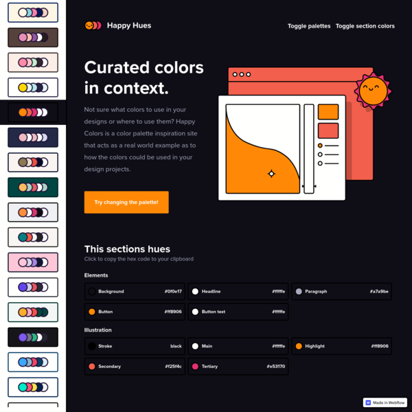 Happy Hues - Curated colors in context.