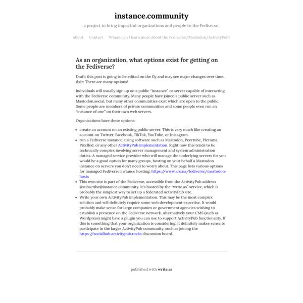 instance.community