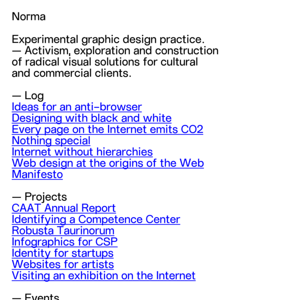 Norma | Torino | Graphic design