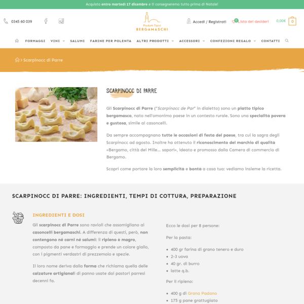 Scarpinocc di Parre: la ricetta bergamasca - Prodotti Tipici Bergamaschi