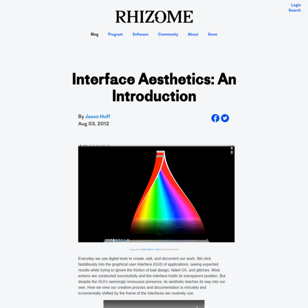 Interface Aesthetics: An Introduction