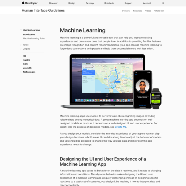 Introduction - Machine Learning - Human Interface Guidelines - Apple Developer