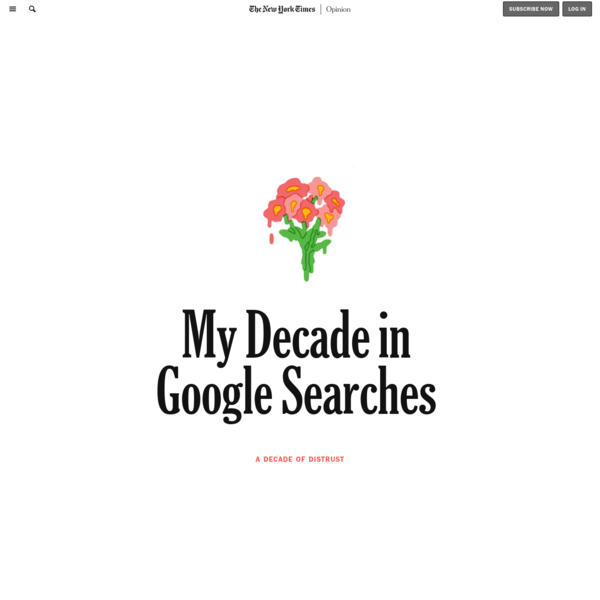Opinion | My Decade in Google Searches