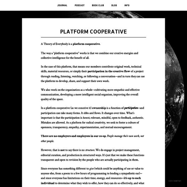 Platform Cooperative