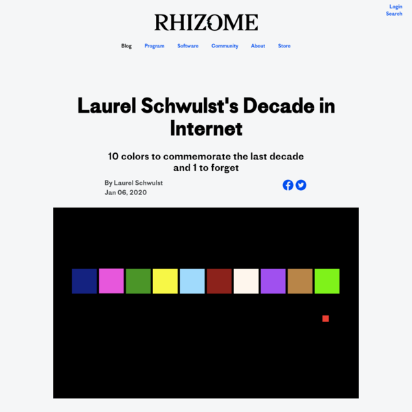 Laurel Schwulst's Decade in Internet