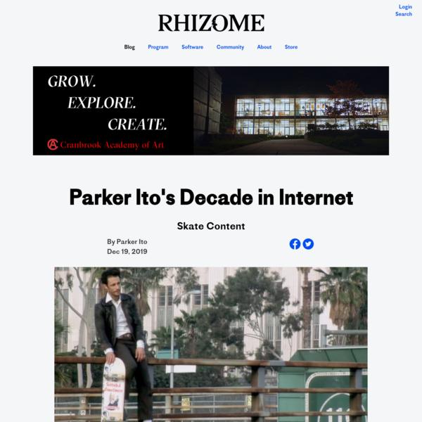 Parker Ito's Decade in Internet