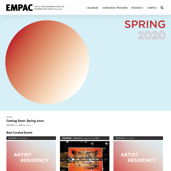 EMPAC - The Experimental Media and Performing Arts Center at Rensselaer Polytechnic Institute. | Experimental Media and Perf...