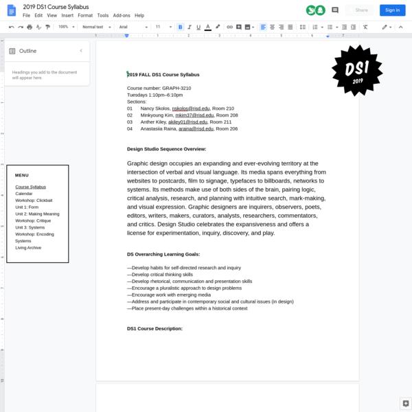 DESIGN STUDIO 2019-21