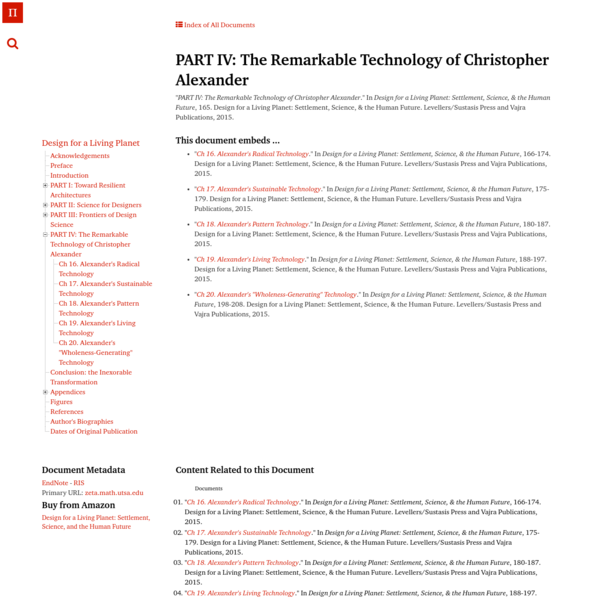 PART IV: The Remarkable Technology of Christopher Alexander | Architecture's New Scientific Foundations