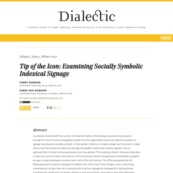 Tip of the Icon: Examining Socially Symbolic Indexical Signage