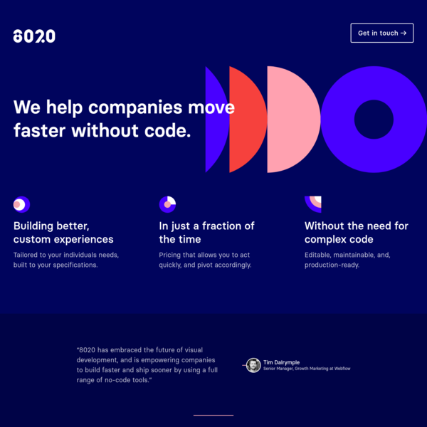 8020 | We help companies move faster without code.