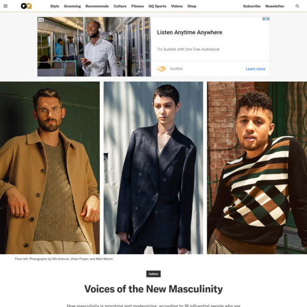 18 Powerful Voices on How Masculinity Is Changing in 2019