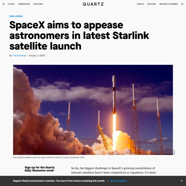 SpaceX aims to appease astronomers in latest Starlink satellite launch