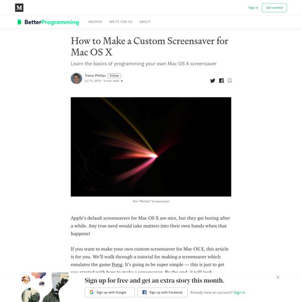 How to make a custom screensaver for Mac OS X