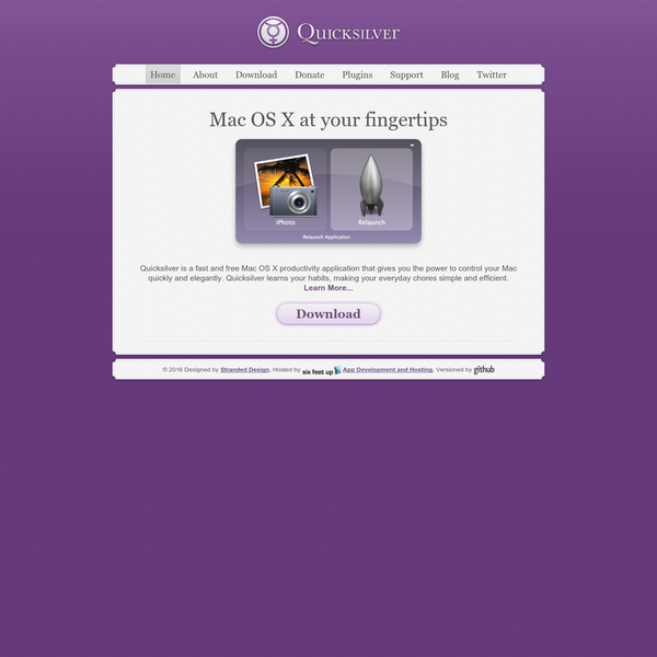 Quicksilver - Mac OS X at your Fingertips