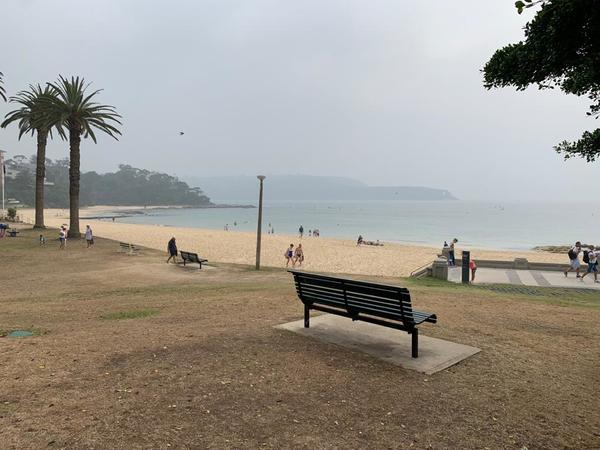 Balmoral Beach, Sydney. Covered in smoke. January 8th 2020