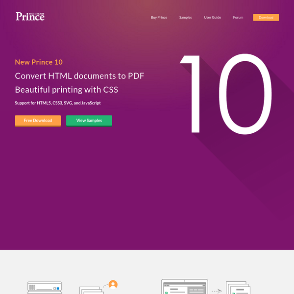 Convert HTML documents to PDF. Beautiful printing with CSS. Support for JavaScript and SVG.