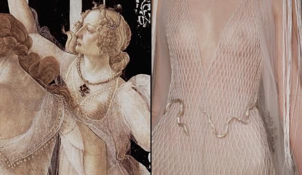 Sandro Botticelli Three Graces / Valentino HC SS'16