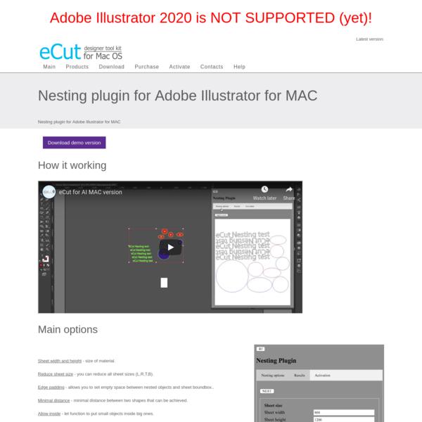 Nesting plugin for Adobe Illustrator for MAC
