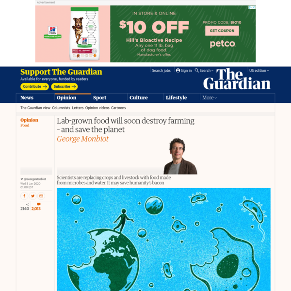 Lab-grown food is about to destroy farming - and save the planet | George Monbiot