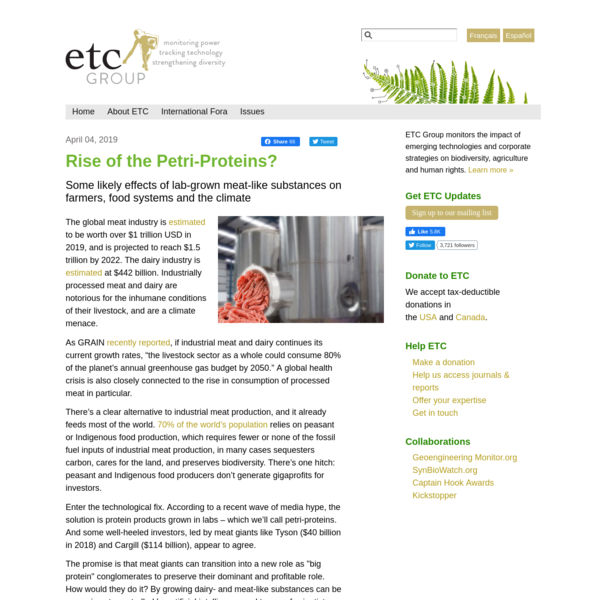 Rise of the Petri-Proteins?